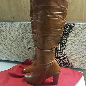 Aldo Knee High Leather Boots